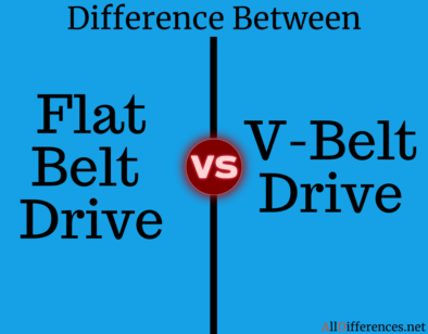 Comparison Between Flat Belt Drive and V-Belt Drive