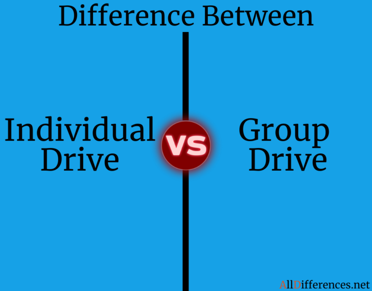 Comparison Between Individual Drive and Group Drive