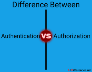 Comparison between Authentication and Authorization
