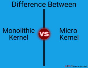 Difference Between Monolithic Kernel and Micro kernel