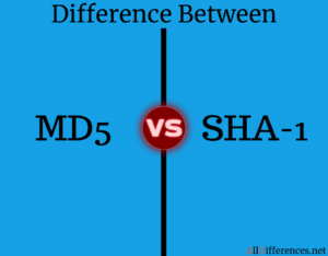 Difference Between MD5 and SHA-1
