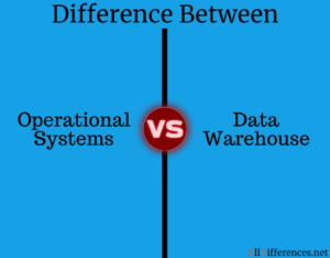 Difference Between Operational Systems and Data Warehouse
