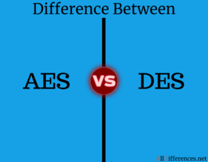Difference between AES and DES
