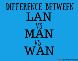 Difference Between LAN, MAN and WAN