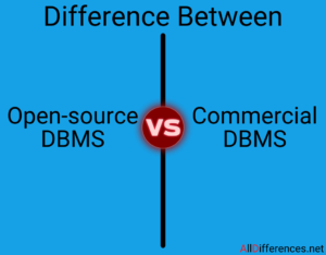 Open source and Commercial DBMS Difference