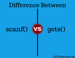 Difference between scanf() and gets()