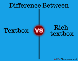 difference between textbox and richtextbox