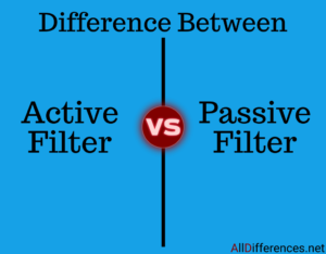 Comparison between Active Filter and Passive Filter